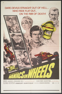 "Maniacs on Wheels (Cinemation Industries, 1970). One Sheet (27"" X 41""). Sports"