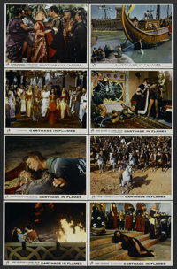 """Carthage in Flames (Columbia, 1960). British Lobby Card Set of 8 (11"""" X 14""""). Historical Drama. Starring Anne..."""