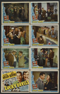 """Movie Posters:Mystery, Lucky Devils (Universal, 1941). Lobby Card Set of 8 (11"""" X 14"""").Mystery. Starring Richard Arlen, Andy Devine, Dorothy Lovet...(Total: 8)"""