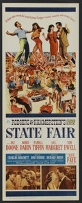 "Movie Posters:Musical Comedy, State Fair (20th Century Fox, 1962). Insert (14"" X 36""). MusicalComedy. Starring Pat Boone, Bobby Darin, Pamela Tiffin, Ann..."