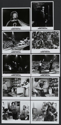 "Gimme Shelter (20th Century Fox, 1970). Stills (10) (8"" X 10"") and Press Kit. Rock and Roll Documentary. Starr..."