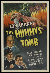 "The Mummy's Tomb (Universal, 1942). Spanish One Sheet (27"" X 41"")"