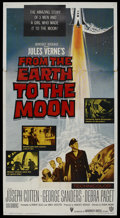 "Movie Posters:Science Fiction, From the Earth to the Moon (Warner Brothers, 1958). Three Sheet(41"" X 81""). Science Fiction. Starring Joseph Cotton, George..."