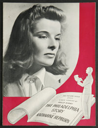 The Philadelphia Story (Broadway Production, 1939). Program (Multiple Pages). Romance. Starring Katharine Hepburn, Van H...