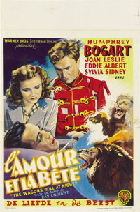 """The Wagons Roll at Night (Warner Brothers, 1941). Post-War Belgian (11"""" X 17"""")"""