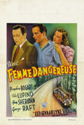 """Movie Posters:Drama, They Drive by Night (Warner Brothers, 1940). Post-War Belgian(11.5"""" X 17"""")...."""