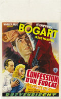 "Movie Posters:Crime, The Big Shot (Warner Brothers, 1942). Post-War Belgian (11"" X 18""). ..."