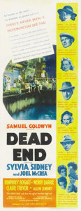 "Movie Posters:Crime, Dead End (United Artists, 1937). Insert (14"" X 36"")...."