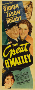 "Movie Posters:Crime, The Great O'Malley (Warner Brothers, 1937). Insert (14"" X 36""). ..."