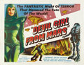 "Movie Posters:Science Fiction, Devil Girl from Mars (Spartan, 1955). Half Sheet (22"" X 28""). ..."