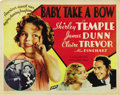 """Movie Posters:Musical, Baby Take a Bow (Fox, 1934). Half Sheet (22"""" X 28""""). ..."""