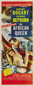 "Movie Posters:Adventure, The African Queen (United Artists, 1952). Insert (14"" X 36""). ..."