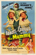 "Movie Posters:Comedy, Abbott and Costello Meet the Mummy (Universal, 1955). One Sheet(27"" X 41""). ..."