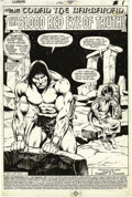 Original Comic Art:Splash Pages, John Buscema and Bob McLeod - Conan the Barbarian #126, Splash page1 Original Art (Marvel, 1981). ...