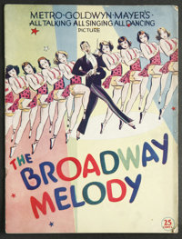 The Broadway Melody (MGM, 1929). Program (Multiple Pages). Academy Award Winner. Starring Anita Page, Bessie Love, Charl...
