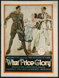 What Price Glory (Fox, 1926). Program (Multiple Pages). War. Starring Victor McLaglen, Edmund Lowe, Dolores del Rio, Wil...