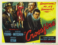 "Movie Posters:Film Noir, Crossfire (RKO, 1947). Title Lobby Card and (4) Lobby Cards (11"" X14"").... (Total: 5 Items)"
