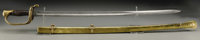 Confederate Presentation Foot Officer's Sword With Brass Scabbard Made by E. J. Johnston of Macon, Georgia. An extraordi...