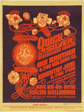 Music Memorabilia:Posters, Quicksilver/Big Brother Avalon Concert Poster FD-36 ArtistAutographed (Family Dog, 1966)....