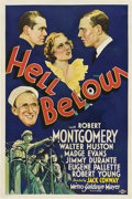 "Movie Posters:War, Hell Below (MGM, 1933). One Sheet (27"" X 41"").. ..."