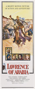 "Movie Posters:War, Lawrence of Arabia (Columbia, 1962). Insert (14"" X 36"").. ..."