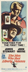 """Movie Posters:Western, The Man Who Shot Liberty Valance (Paramount, 1962). Insert (14"""" X 36"""").. ..."""