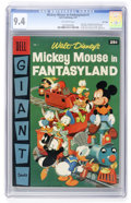 Silver Age (1956-1969):Cartoon Character, Dell Giant Comics Mickey Mouse in Fantasyland #1 File copy (Dell, 1957) CGC NM 9.4 Off-white pages....
