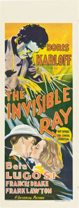 """Movie Posters:Horror, The Invisible Ray (Universal, 1935). Pre-War Australian Daybill (15"""" X 40"""").. ..."""