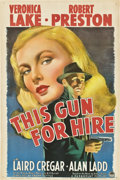 "Movie Posters:Film Noir, This Gun for Hire (Paramount, 1942). One Sheet (27"" X 41"") StyleA.. ..."