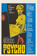 "Movie Posters:Hitchcock, Psycho (Paramount, 1960). One Sheet (27"" X 41"").. ..."
