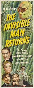 """Movie Posters:Horror, The Invisible Man Returns (Universal, 1940). Insert (14"""" X 36"""").. ..."""