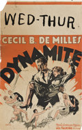 "Movie Posters:Drama, Dynamite (MGM, 1929). Window Card (14"" X 22"").. ..."