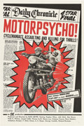"Movie Posters:Cult Classic, Motor Psycho! (Eve Productions, 1965). One Sheet (27"" X 41"").. ..."