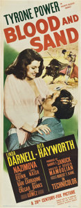 """Movie Posters:Drama, Blood and Sand (20th Century Fox, 1941). Insert (14"""" X 36"""").. ..."""