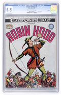 Golden Age (1938-1955):Classics Illustrated, Classic Comics #7 Robin Hood Original Edition - Rockford pedigree (Gilberton, 1942) CGC FN- 5.5 Off-white to white pages....