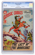Golden Age (1938-1955):Classics Illustrated, Classic Comics #4 The Last of the Mohicans Original Edition -Rockford pedigree (Gilberton, 1942) CGC FN- 5.5 White pages....
