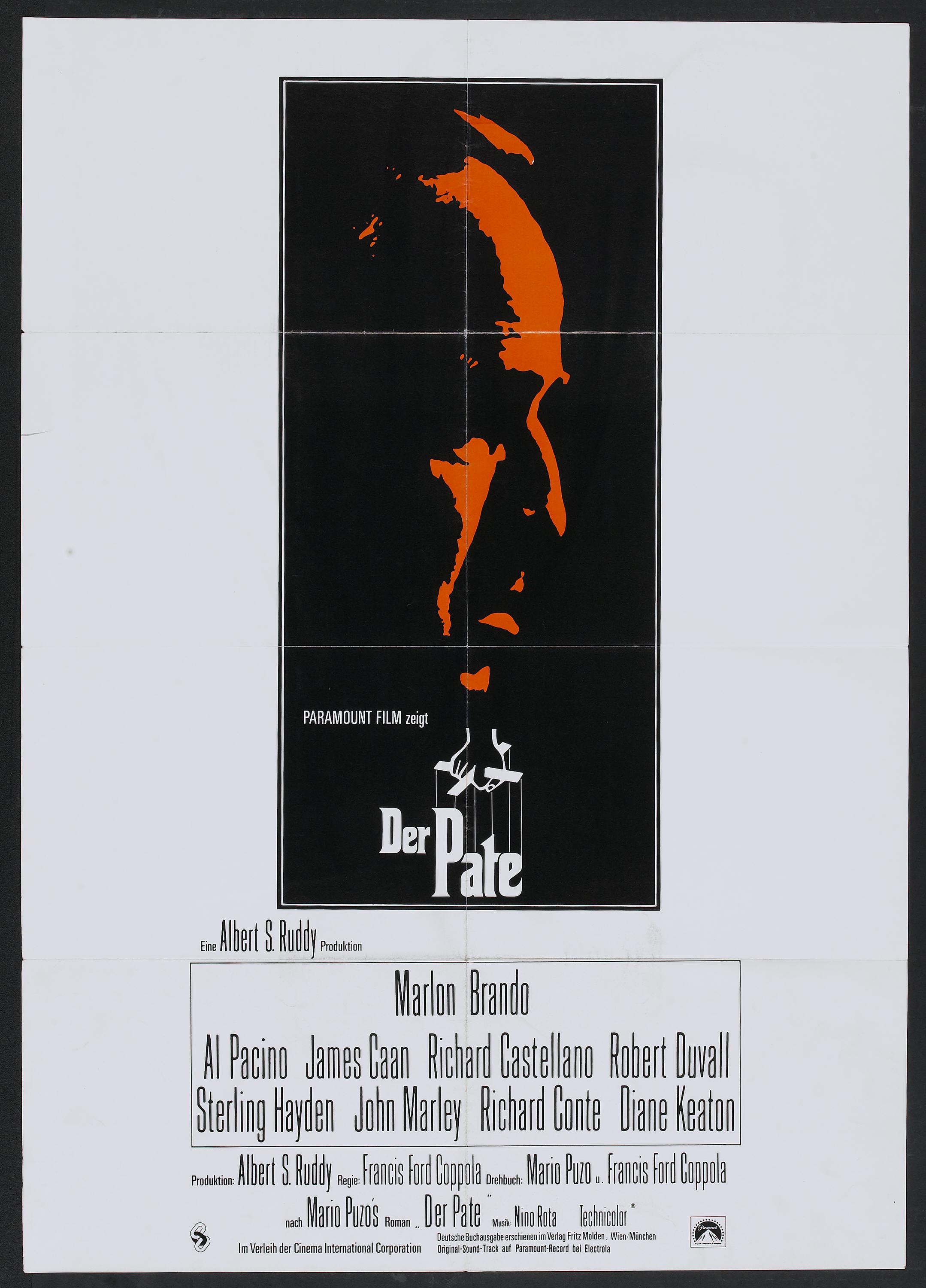 The Godfather Paramount 1972 German A1 23 25 X 33