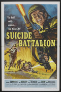 "Movie Posters:War, Suicide Battalion (American International, 1958). One Sheet (27"" X41"") and Lobby Cards (4) (11"" X 14""). War.. ... (Total: 5 Items)"