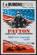 "Movie Posters:War, Patton (20th Century Fox, 1970). Belgian (14"" X 21.5""). War.. ..."