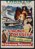 "Movie Posters:Adventure, Mystery Submarine (Universal, 1950). Belgian (13.75"" X 19.25"").Adventure.. ..."
