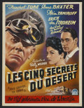 "Movie Posters:War, Five Graves to Cairo (Paramount, Late 1940s). Post-War Belgian (14""X 18.5""). War.. ..."