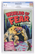 Golden Age (1938-1955):Horror, Worlds of Fear #6 Crowley pedigree (Fawcett, 1952) CGC NM- 9.2Off-white pages....