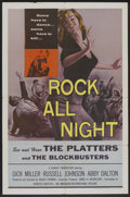 """Movie Posters:Crime, Rock All Night (American International, 1957). One Sheet (27"""" X41""""). Crime.. ..."""