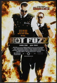 """Hot Fuzz (Rogue Pictures, 2007). One Sheet (27"""" X 40"""") DS. Comedy"""