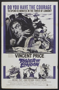 """Tower of London (United Artists, 1962). One Sheet (27"""" X 41""""). Horror"""