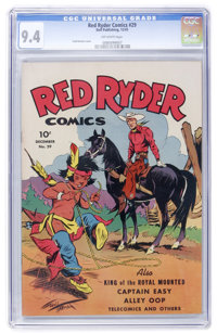 Red Ryder Comics #29 (Dell, 1945) CGC NM 9.4 Off-white pages