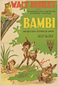 "Movie Posters:Animated, Bambi (RKO, 1942). Argentinean Poster (28.5"" X 42.25"").. ..."