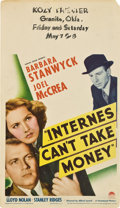 "Movie Posters:Drama, Internes Can't Take Money (Paramount, 1937). Midget Window Card (8""X 14"").. ..."