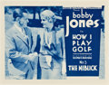 "Movie Posters:Sports, Bobby Jones in How I Play Golf (Warner Brothers, 1931). Lobby Card Set of 4 (11"" X 14"") Episode 3 ""The Niblick."". ... (Total: 4 Items)"