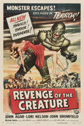 "Movie Posters:Science Fiction, Revenge of the Creature (Universal International, 1955). One Sheet(27"" X 41"").. ..."